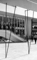 Zagrebački velesajam, Paviljon zanatstva(detaj stubišta) Drago Korbar Avenija Dubrovnik 15, snimljeno 1959.