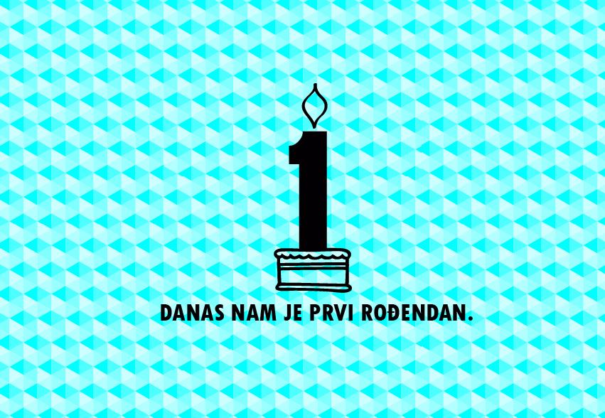 sretan 1 rođendan ▻ Sretan nam 1. rođendan! :)   vizkultura.hr sretan 1 rođendan